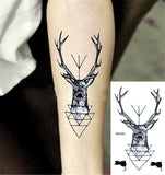 OnDecal Deer Head Temporary Tattoo