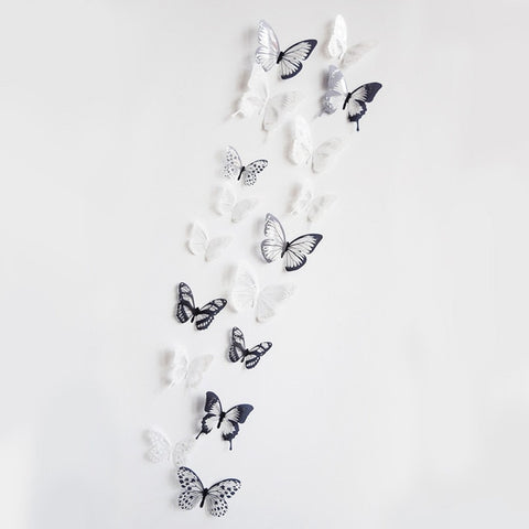 OnDecal 18pcs/Set 3D Crystal Effect Butterflies