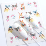 OnDecal Animal & Flowers Nail Decals