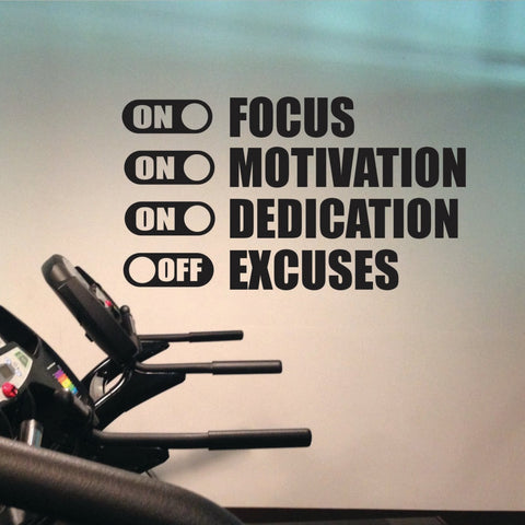 OnDecal Focus On Motivation Wall Decal