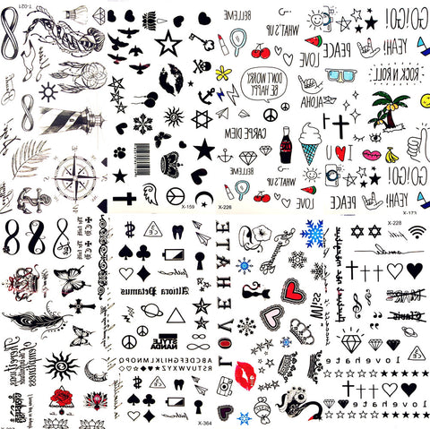 OnDecal Cute Small Temporary Tattoos
