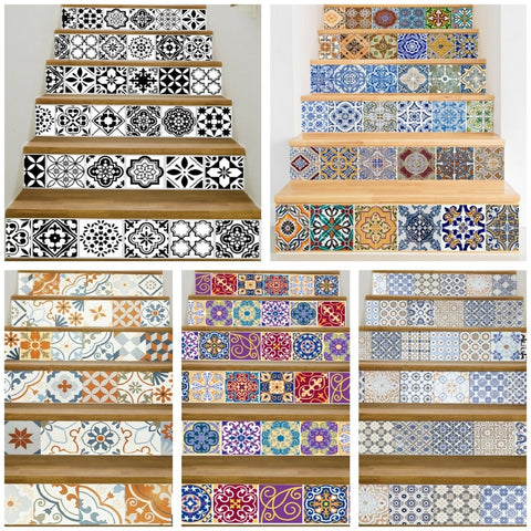 OnDecal Mosaic Tile Pattern Stair Decals