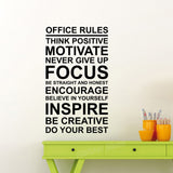 OnDecal Office Rules Wall Decal