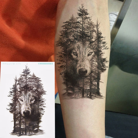 OnDecal Forest Wolf Temporary Tattoo