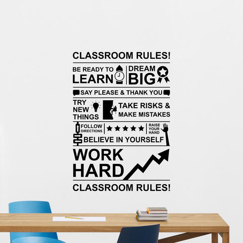 OnDecal Classroom Rules Wall Decal
