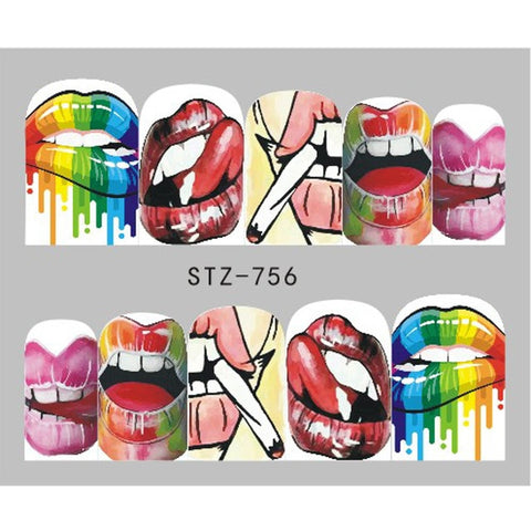 OnDecal Cool Girl Lips Nail Decals