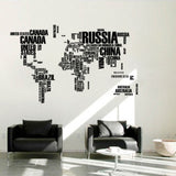 OnDecal English Word World Map