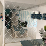 OnDecal diamond shaped Acrylic Mirror Wall Decals