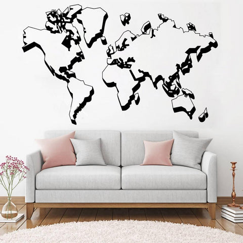 OnDecal New Design World Map Wall Decal