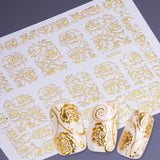 OnDecal 3D Shiny Gold Nail Decal