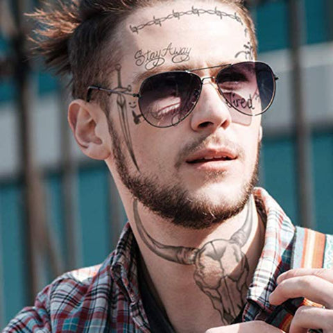 OnDecal Post Malone Temporary Face Tattoos