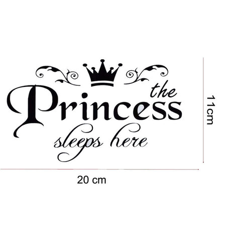 OnDecal Princess Sleeps Here Wall Decal