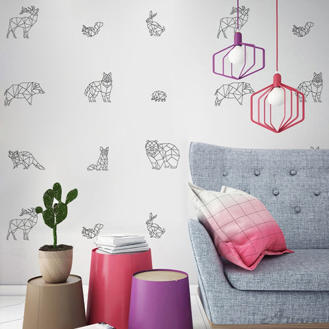 OnDecal Geometric Animal Wall Decals