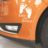 OnDecal Foot Print Baby On Board Decal