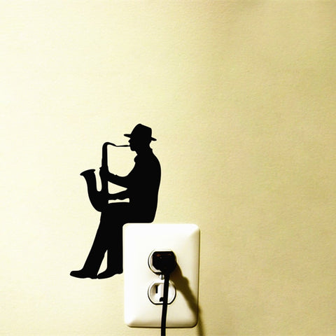 OnDecal Small Saxophone Player Wall Decal