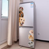 OnDecal Dogs Cats 3D Fridge Decorations