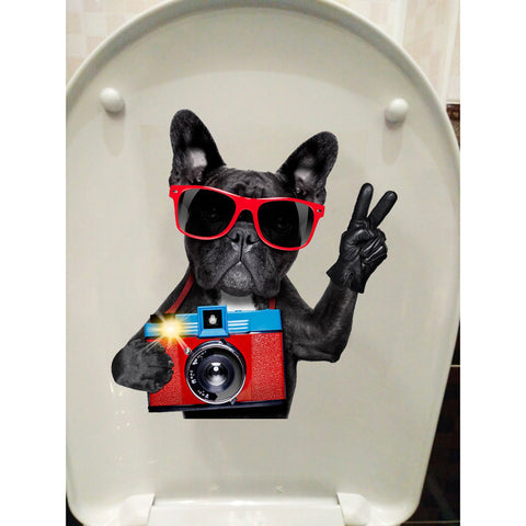 OnDecal Photo Dog Toilet Decal