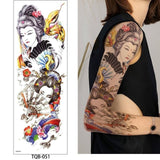 OnDecal Colorful 1 Pc Large Arm Temporary Tattoo