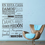 OnDecal Spanish Home rules Wall Decal