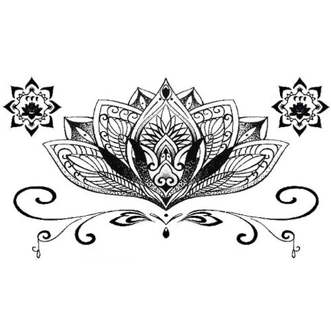 OnDecal Under Breast Pendant Temporary Tattoo