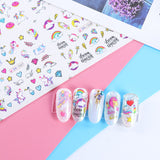 OnDecal Cute Unicorn Nail Decals