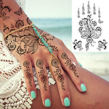 OnDecal Henna Hand Temporary Tattoo
