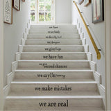 OnDecal In This House Stair Decals