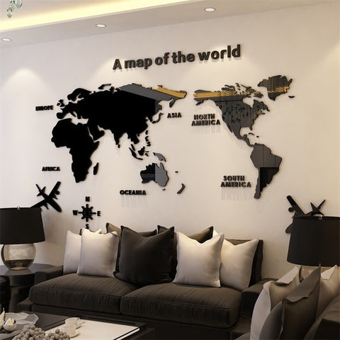 OnDecal Creative 3D Acrylic World Map