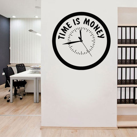 Time Is Money Wall Decal