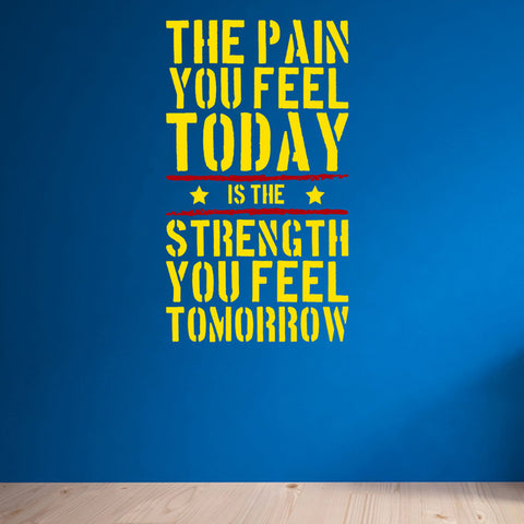 The Pain you Feel Today Motivational Quote