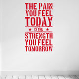 OnDecal The Pain you Feel Today Motivational Quote