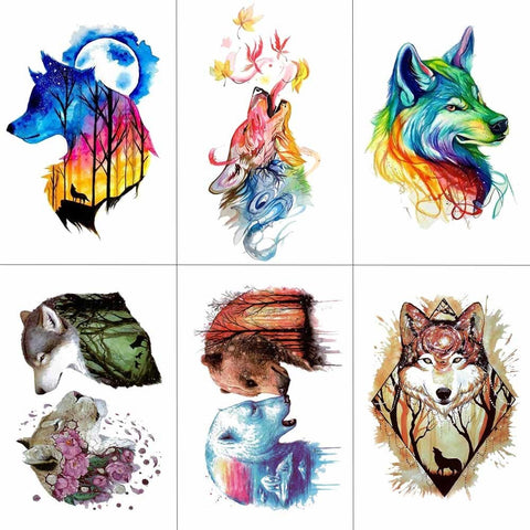 OnDecal Amazing Watercolor Temporary Tattoo