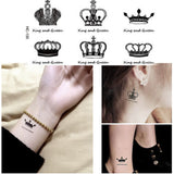 OnDecal Black Crowns Temporary Tattoos