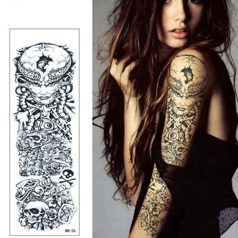 OnDecal Alien Queen Sleeve Temporary Tattoo