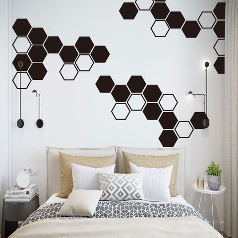 OnDecal Hexagon Shape Wall Decals