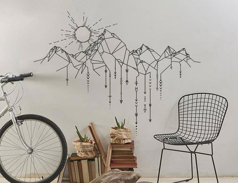 OnDecal Geometric Mountain Sun Arrows