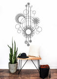 OnDecal Geometric Moon Phases Wall Decal