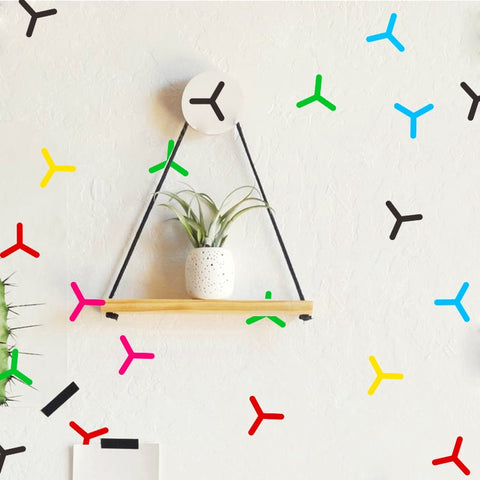 OnDecal Colorful Minimalist Pinwheels Wall Decals