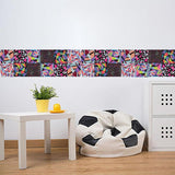 OnDecal 6pcs Abstract Geometric Tiles Decals