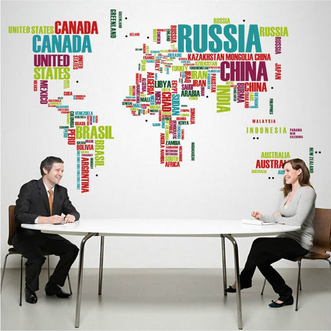 OnDecal 2pcs/set World Map
