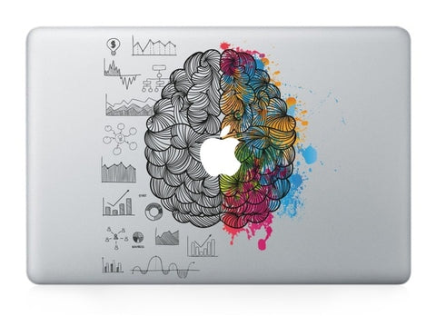 OnDecal GOOYIYO - Laptop Vinyl Partial Decal DIY Personality Sticker Left&Right Brain Print Skin For Macbook Air Pro Retina Touch Bar