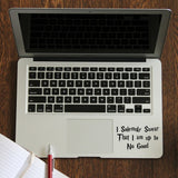 Up To No Good Laptop Decal