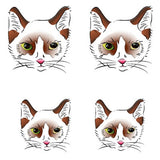 OnDecal Vintage Dog Cat Fox Temporary Tattoo