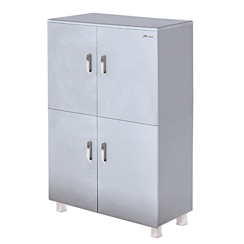 Miami - Highboard, Kommode, Schrank mit 4 Türen  mit Soft Close, Autometallic Lackierung, chromfarbene Griffe, Füsse und Logo aus hochwertigem Autoschriftzug, in verschiedenen Farben - einrichten-24, Kommoden & Sideboards