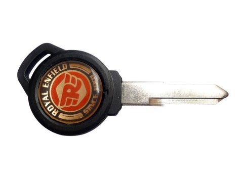 Ignition Blank Keys + Royal Enfield Logo For Royal Enfield GT Continental