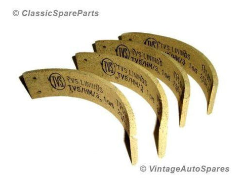 Rear Brake Shoe Lining Kit Fits Vintage Morris Oxford 1950s Model available at Royal Spares