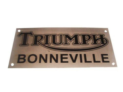 Unique Look Name Plate Fits Triumph,Vintage available at Royal Spares