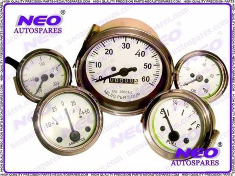 Brand New Unused Speedometer Gauge Kit Fits MB, GPW, CJ2A, CJ3A And Early CJ3B available at Royal Spares