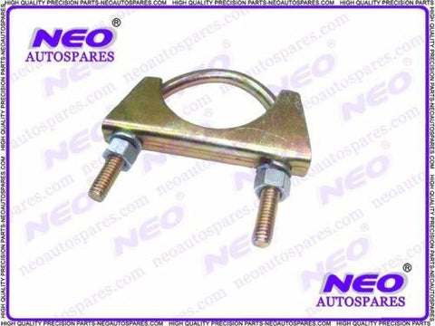 New Exhaust U Hose Clamps - Clamping Clips with Fixing Nuts Bolt Zinc Plated Universal available at Royal Spares