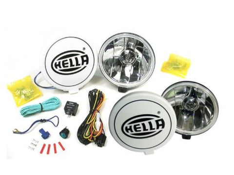 Hella Comet 500FF Kit Spot Driving Lamp Light With Cover 2 Unit Jeep Truck